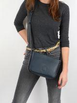 Shoulder Bag Balade Leather Etrier Blue balade EBAL05-vue-porte