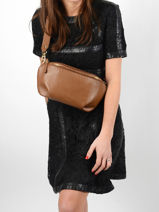 Leather Tradition Belt Bag Etrier Brown tradition EHER33-vue-porte