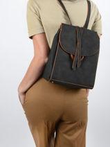 Backpack Acacia Woomen Black acacia WACAC07-vue-porte