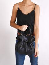 Psyche Bucket Bag Hexagona Black psyche 876973-vue-porte