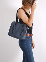 Alva Shoulder Bag Hexagona Blue alva 256826-vue-porte