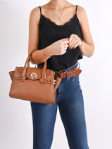 Leather Top-handle Bag Carmen Michael kors Brown carmen S0GNMS1L-vue-porte