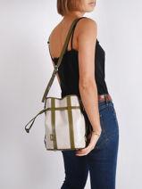 Small Leather Elsa Bucket Bag Lancel elsa A10997-vue-porte