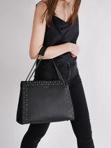 Shoulder Bag Delicate Rock Leather Etrier Black delicate rock EDER05-vue-porte