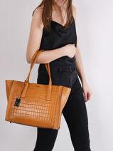 Shoulder Bag A4 Arizona Leather Etrier Black arizona EARI26-vue-porte