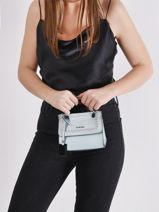 Mini-bag Arizona Leather Etrier Blue arizona EARI27-vue-porte