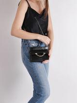 Leather Mini Crossbody Bag Karl Seven Karl lagerfeld Black karl seven 206W3054-vue-porte