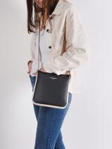 Shoulder Bag Constance Leather Lancaster Black constance 9-vue-porte