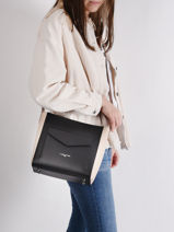 Shoulder Bag Constance Leather Lancaster Black constance 11-vue-porte