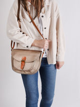 Crossbody Bag Brown Miniprix Beige brown H6769-vue-porte