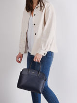 Leather Chantaco Top-handle Bag Lacoste Black chantaco NF3496KL-vue-porte