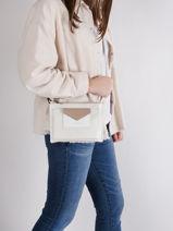 Shoulder Bag Maya Lancaster Silver maya 44-vue-porte