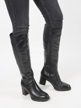 High leather boots-TAMARIS-vue-porte
