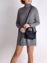 Longchamp Le pliage neo Sacs porté main Bleu-vue-porte