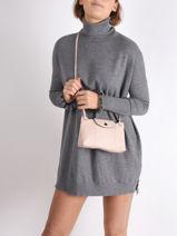 Longchamp Le pliage cuir Messenger bag-vue-porte