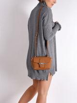 Longchamp Roseau Messenger bag Brown-vue-porte