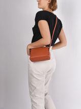 Crossbody Bag Confort Leather Hexagona Orange confort 466745-vue-porte