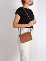 Crossbody Bag Confort Leather Hexagona Brown confort 466745-vue-porte