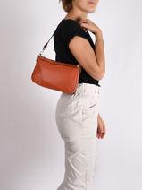 Shoulder Bag Confort Leather Hexagona Orange confort 462348-vue-porte