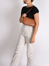 Shoulder Bag Confort Leather Hexagona Brown confort 462348-vue-porte