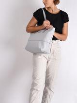Shoulder Bag A4 Serena Hexagona Gray serena 586375-vue-porte