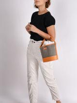 Positano Bucket Bag Hexagona Orange positano 656468-vue-porte