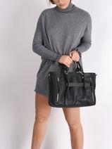 Longchamp Longchamp 3d perfecto Sacs porté main Noir-vue-porte