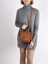 Longchamp Mailbox soft Handbag Brown-vue-porte