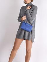 Longchamp Le pliage neo Sacs porté travers Bleu-vue-porte