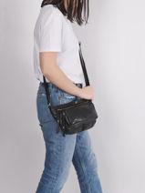 Leather Pop Crossbody Bag Basilic pepper Brown pop BPOC07-vue-porte