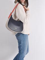 Leather Shoulder Bag Constance Lancaster Black constance 10-vue-porte