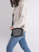 Dundy Crossbody Bag Miniprix Black dundy X9539-vue-porte