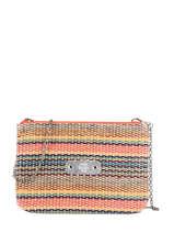 Crossbody Bag Straw Mila louise Black straw 23665W