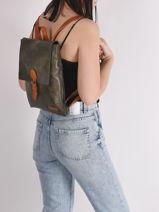 Backpack Brown Miniprix Green brown H6771-vue-porte
