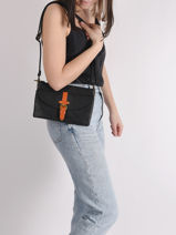 Brown Crossbody Bag Miniprix Black brown H6766-vue-porte