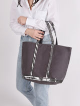 Medium Cabas Tote Bag Sequins Vanessa bruno Gray cabas 1V40315-vue-porte