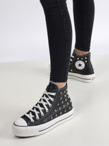 Chuck taylor all star lift hi black sneakers -CONVERSE-vue-porte