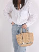 Handbag Le Cabas Raffia Sequins Vanessa bruno cabas raphia 64V40435-vue-porte