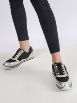 Leather platform sneakers-TAMARIS-vue-porte