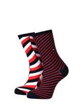 Chaussettes femme 2 paires-TOMMY HILFIGER