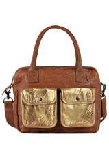 Leather Dandy Doré Tote Bag Paul marius Beige dore DANDYDOR