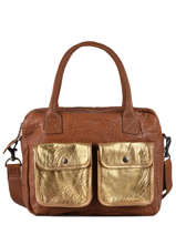 A4 Dore Leather Shoulder Bag Paul marius Brown dore DANDYDOR