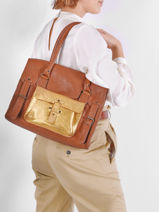 Dore Leather Handbag Paul marius Brown dore RIVGMDOR-vue-porte