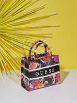 Monique Bag With Floral Print Guess Black monique SF789476