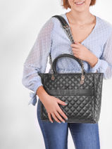 Sac Cabas Illy Guess Noir illy VG797023-vue-porte