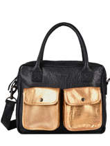 Leather Dandy Doré Tote Bag Paul marius Black dore DANDYDOR