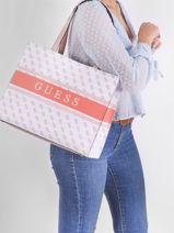 Monique Tote Bag Guess White monique SW789423-vue-porte