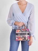Monique Bag With Floral Print Guess Multicolor monique SF789476-vue-porte