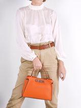 Handbag Uptown Chic Guess Orange uptown chic VY730105-vue-porte