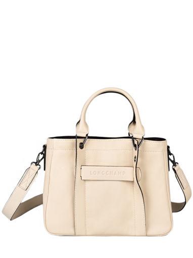 Longchamp Longchamp 3d zip Handbag Beige
